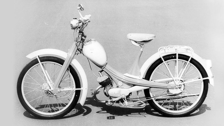 Nsu Quickly Motorcycle Type L 1957 Motorcycle Types Moped Motorcycle