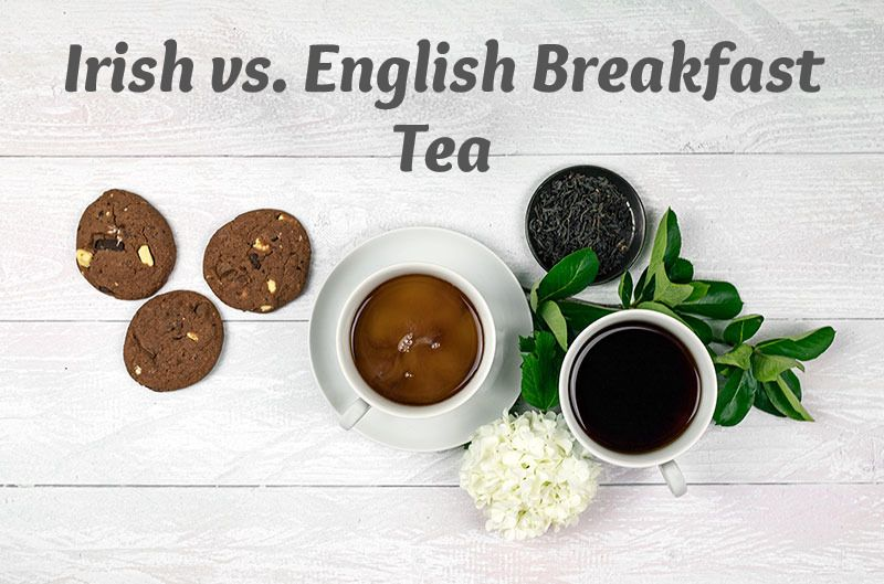 In general the difference between an Irish breakfast and an English breakfast is white pudding and soda bread.