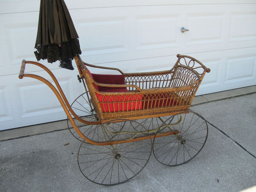 Details About Vintage Full Size Baby Buggy Late 1800 S New