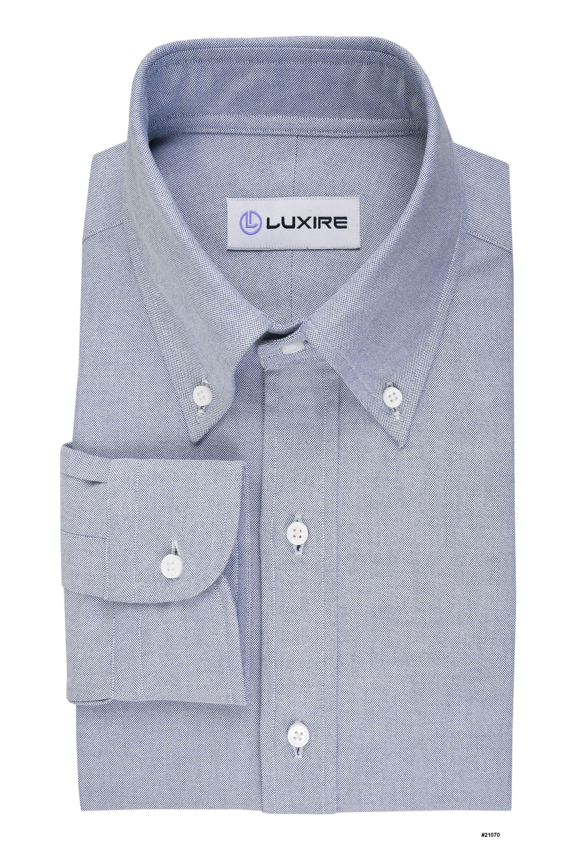 Ensign Blue On White Oxford Luxire Shirts Oxford White Button