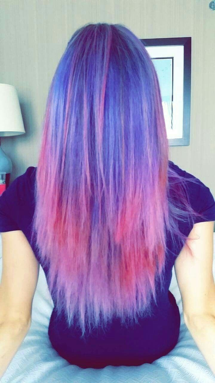 Purple Blue Pink Ombre Hair Overtone Condioner Pink Ombre Hair Ombre Hair Hair Inspo Color
