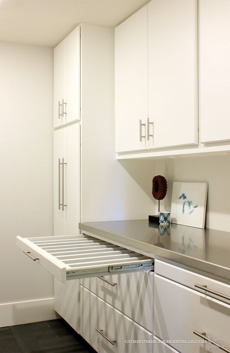 Pull Out Drying Racks For The Laundry Room Modern Utility Rooms