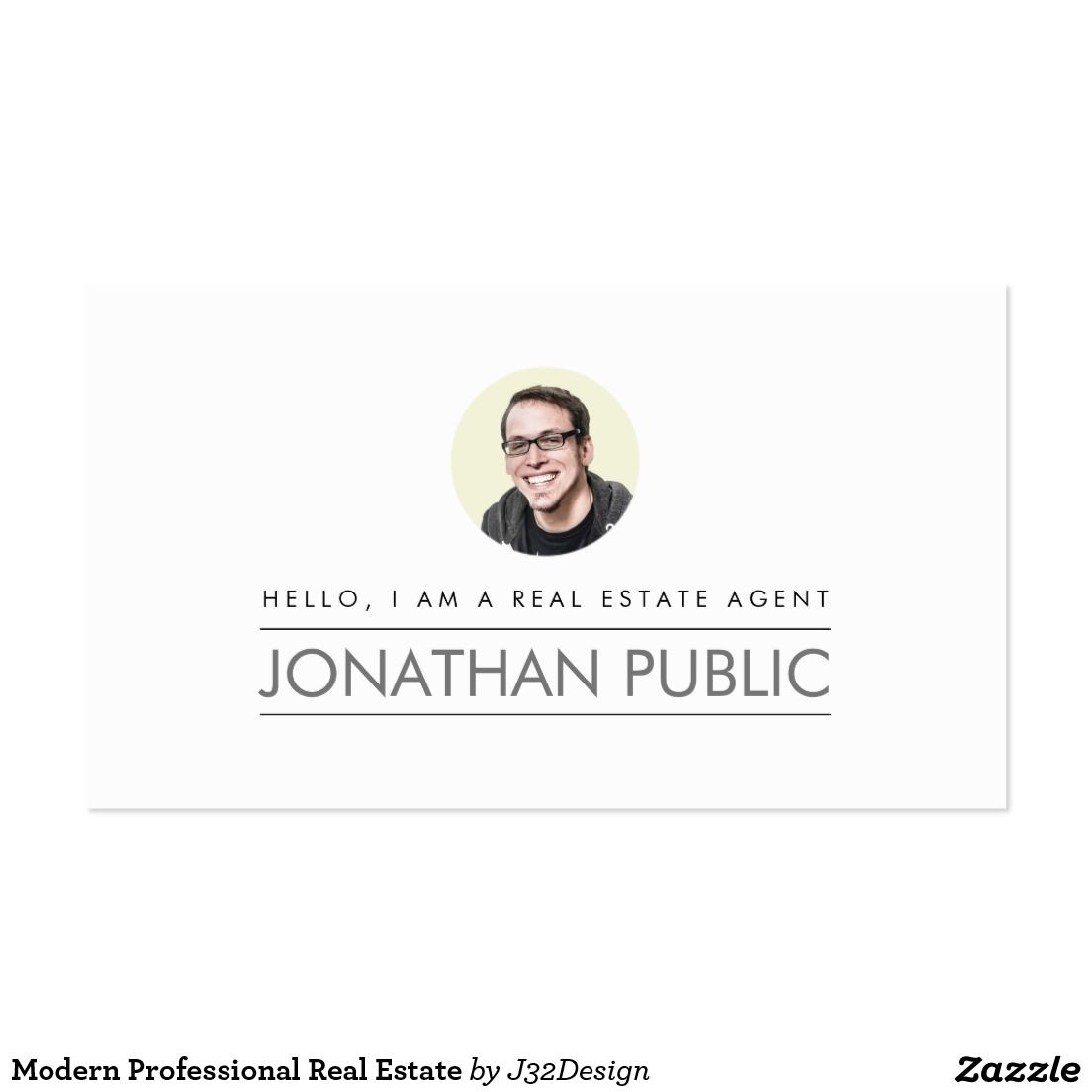 Modern Professional Real Estate Business Card Modern Professional