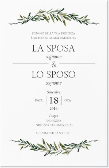 Partecipazioni Matrimonio Vistaprint.Inviti Di Nozze Piatti Verticali 182 X 117 Mm Di Colore Bianco E