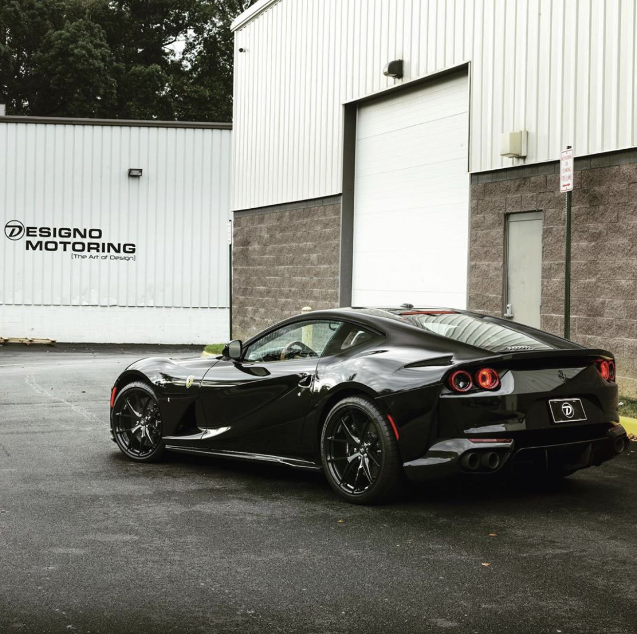 Ferrari 812 Superfast Painted In Nero W A Set Of P101 Hre Wheels