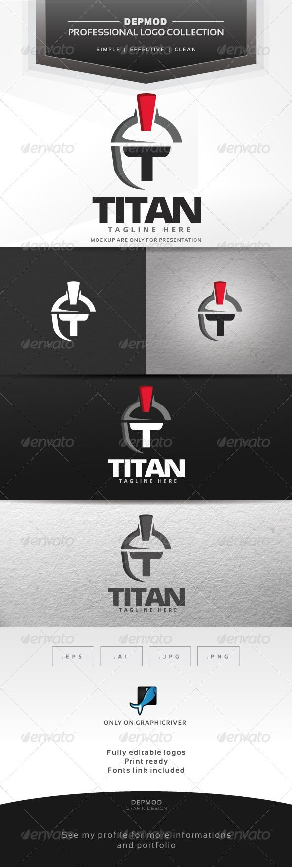 Titan Logo — Vector EPS #ancient #spartan • Available here → https://graphicriver.net/item/titan-logo/7638719?ref=pxcr