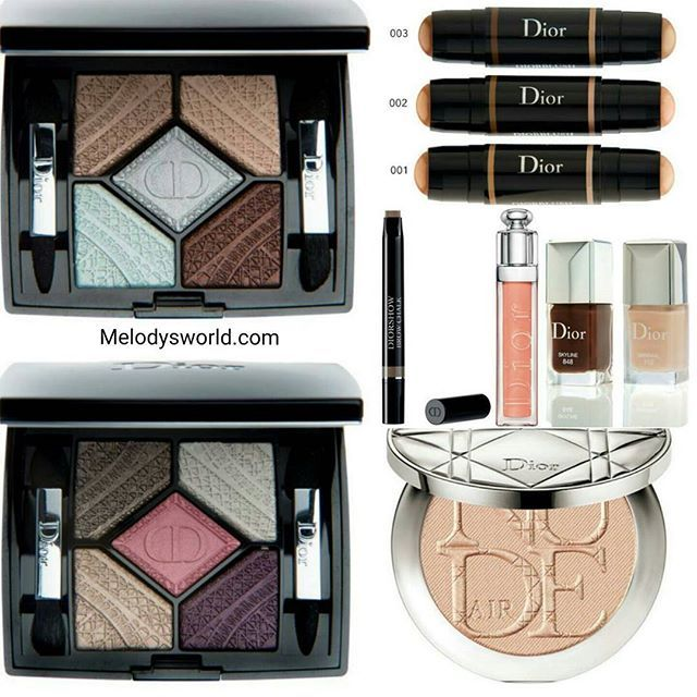 #SNEAKPEEK of the upcoming @diormakeup #diorskyline #fall2016 #collection  This lovely collection will be available in August (i will keep you updated ) The collection includes: ♚Dior skinflash - 4 colors $32 each ♚dior fix it 2 in 1 prime and conceal face_eye_lips-4 color correcting shades $36 each ♚dior 5_couleur skyline eyeshafow palettes - 2 palettes $63 each ♚dior nail varnish- 2 shades $27 each ♚diorshiw brow chalk ♚Diorblush light and contour scalpting stick duo -3 sticks $44 each…