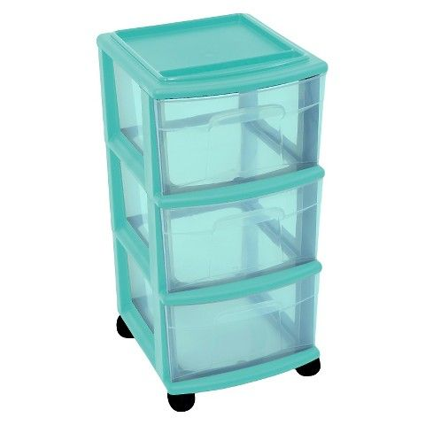 Room Essentials  Drawer Medium Cart Blue