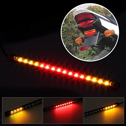 Universal Led Strip For Motorcycle Tail Brake Stop Turn Signal Light Strip 16led 8 Quot Flexible For Motorbikes Harley Davidson Strip Lighting Led Strip Led