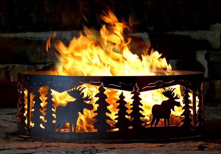 Plasma Cut Fire Pit Rings Many Styles And Sizes To Pick From Or Design Your Own