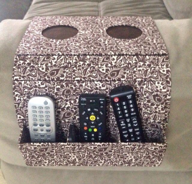 Cartonagem Esteira De Sofa Com Porta Copos E Porta Controle Remoto Cartonagem Porta Controle Remoto Controle Remoto