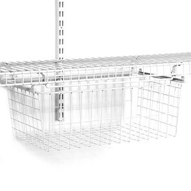 shop closetmaid w wire deep sliding basket at loweu0027s canada find our selection of closet organizers at the lowest price guaranteed with price match