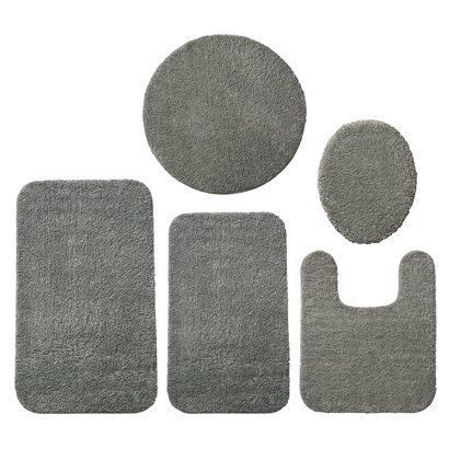 room essentials; bath rugs [master bath, in aqua breeze or grey