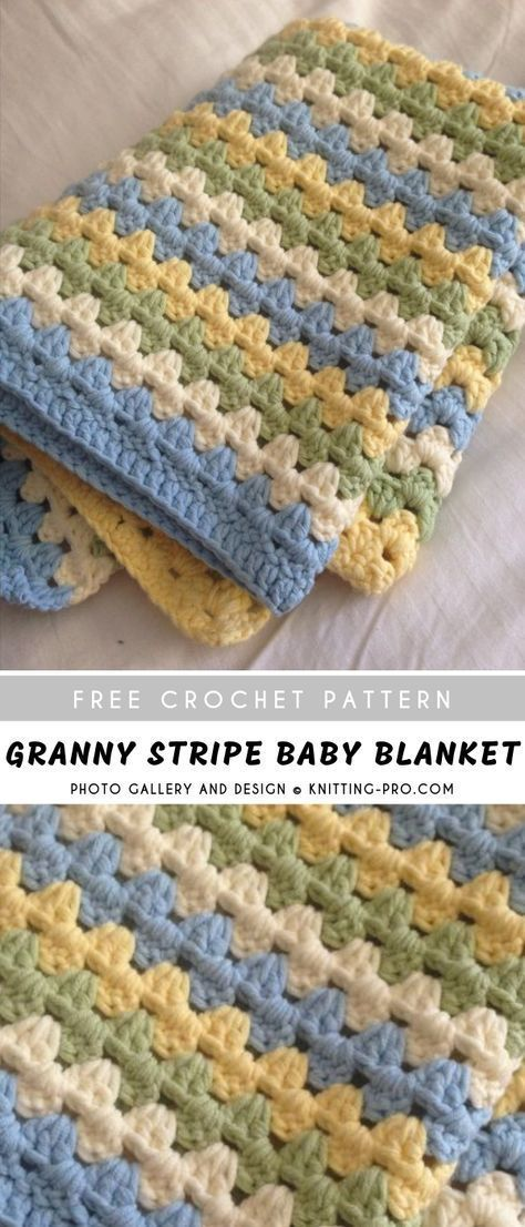 Granny Stripe Baby Crochet Blanket | Pattern Center #crochet patterns blanket easy Granny Stripe Baby Crochet Blanket    For those looking for new baby blanket models, it is my pleasure to present you with the most beautiful baby blanket samples I have put together. As someone who loves knitting so much, I can't stand the sight of beautiful crafts. I want to take it and show it to others as soon as possible.    Preparatio... #Baby #Blanket #Center #Crochet #Granny #Pattern #Patterns #Stripe