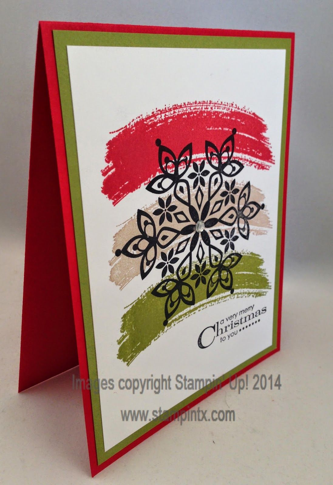 stampintx christmas card ideas using work of art set