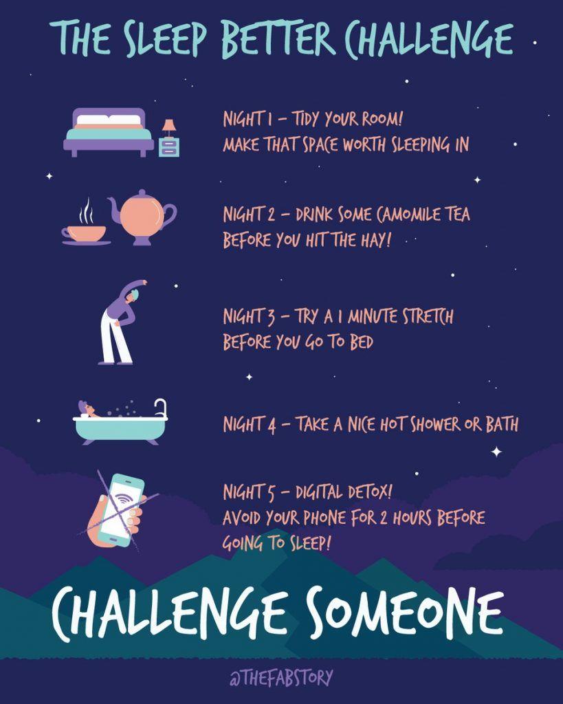 5 Day Better Sleep Challenge Fabulous Magazine Sleep Better Tips Healthy Sleep Habits Better Sleep