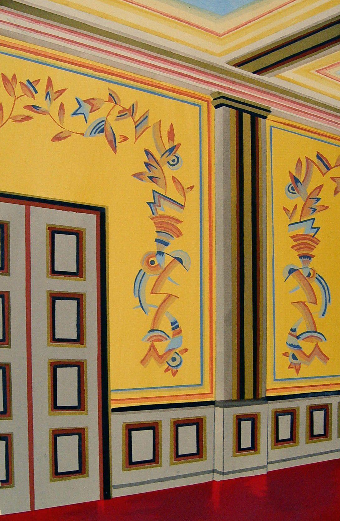 Art Deco Interior Pochoir, 1929 | Deco interiors, Interior walls and ...