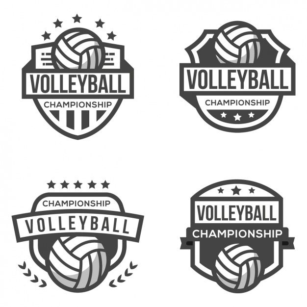 Download Four Logos For Volleyball For Free Volleyball Volleyball Designs Logos