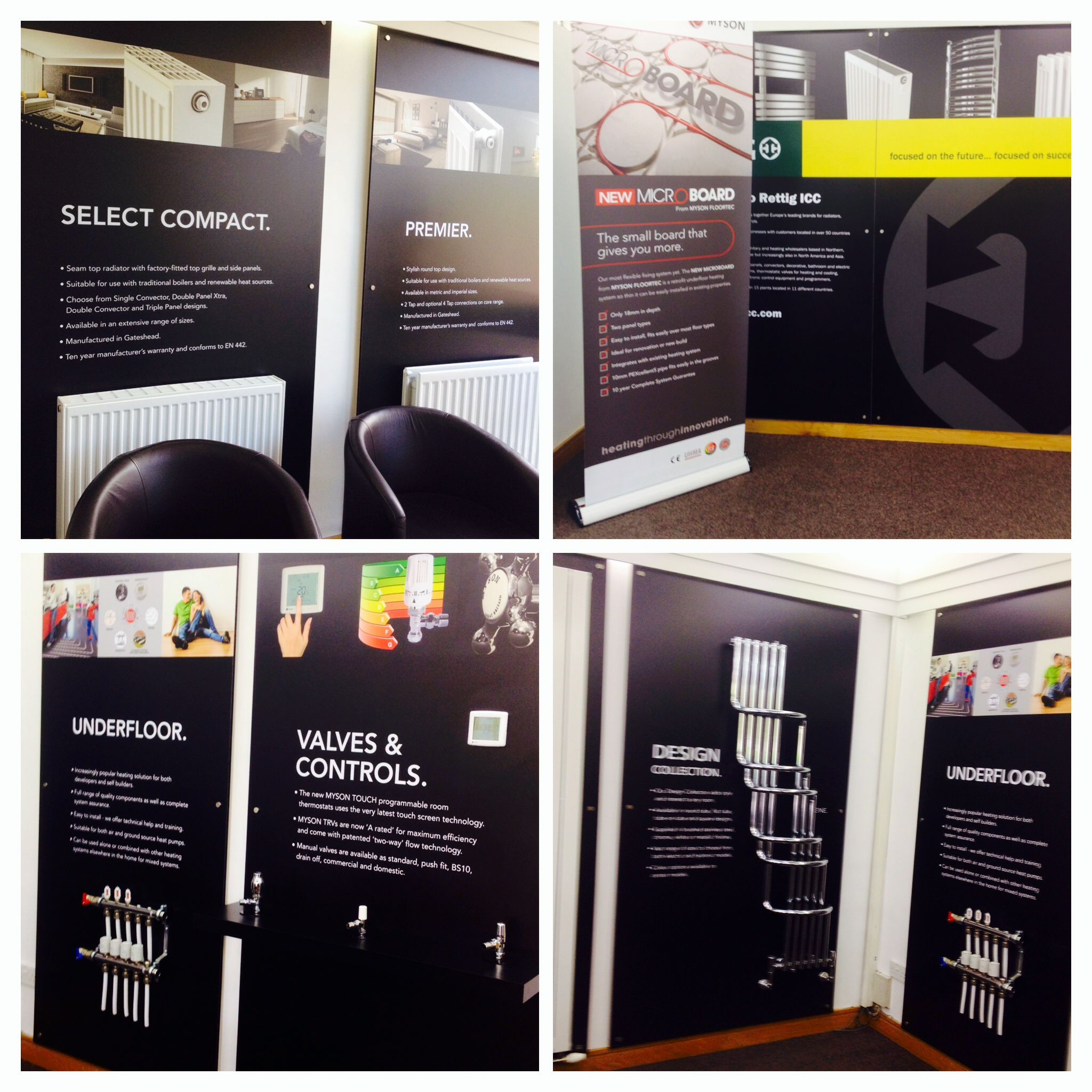 Recently completed these display boards for  @Susie Bolland UK