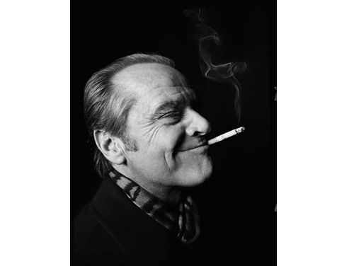 """A portrait of Jack Nicholson by George Holz, from Art Center's """"Three Boys from Pasadena."""""""