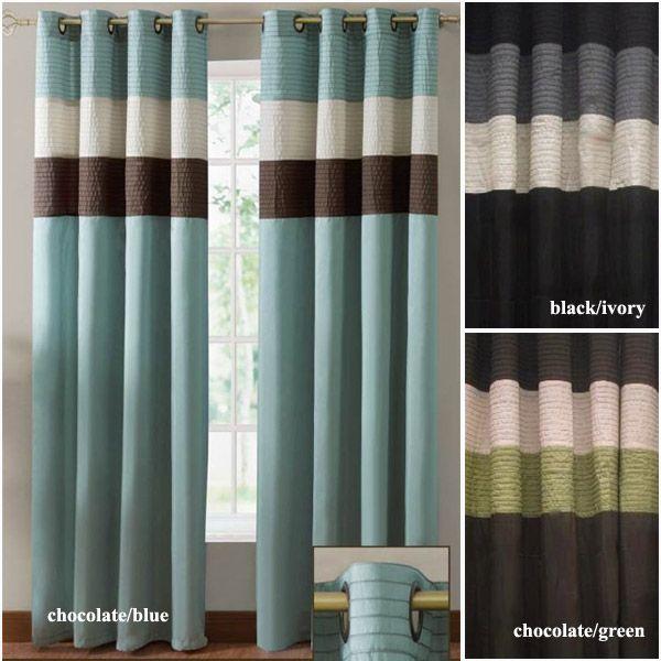 Regatta Venetto Grommet Top Curtain Panel - Striped Curtain Panel - Modern Grommet Top Curtains  http://www.bedbathstore.com/revegrtopcup.html#