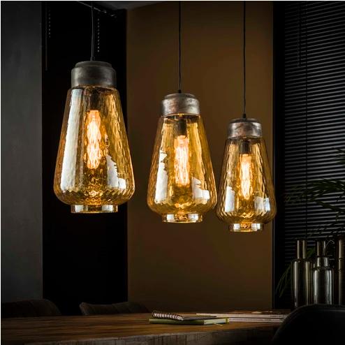 Hanglamp Natan 3 Lamps Hanglamp Industriele Hanglampen Eettafel Verlichting