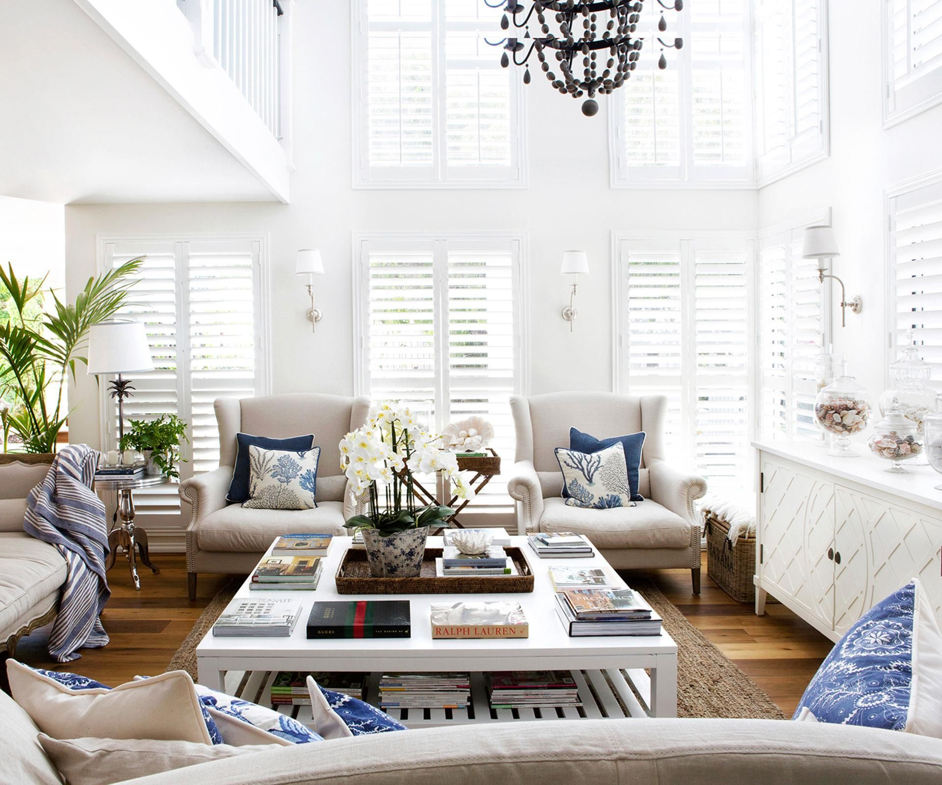 A clear vision turned a waterside home into an elegant for Hampton style interior decorating ideas