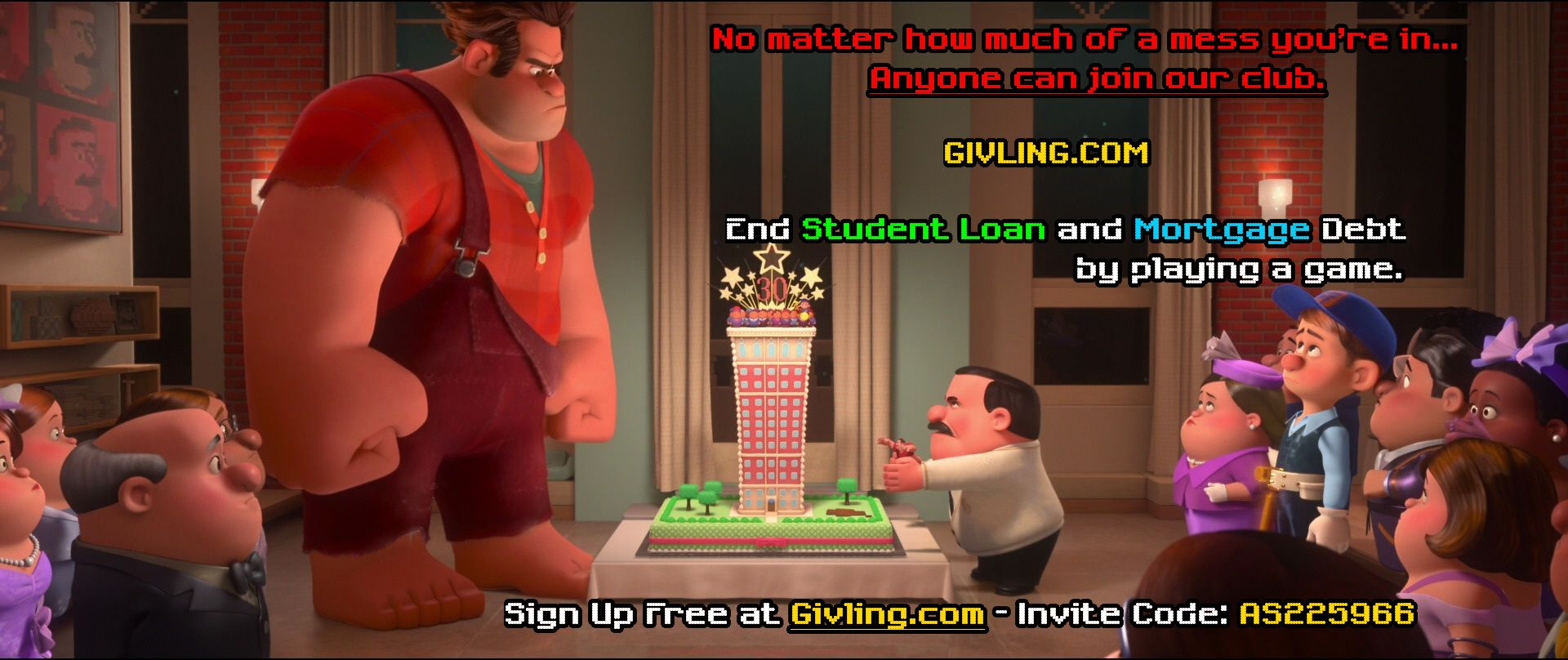 No cuts no butts no coconuts Givling Invite Code AS225966