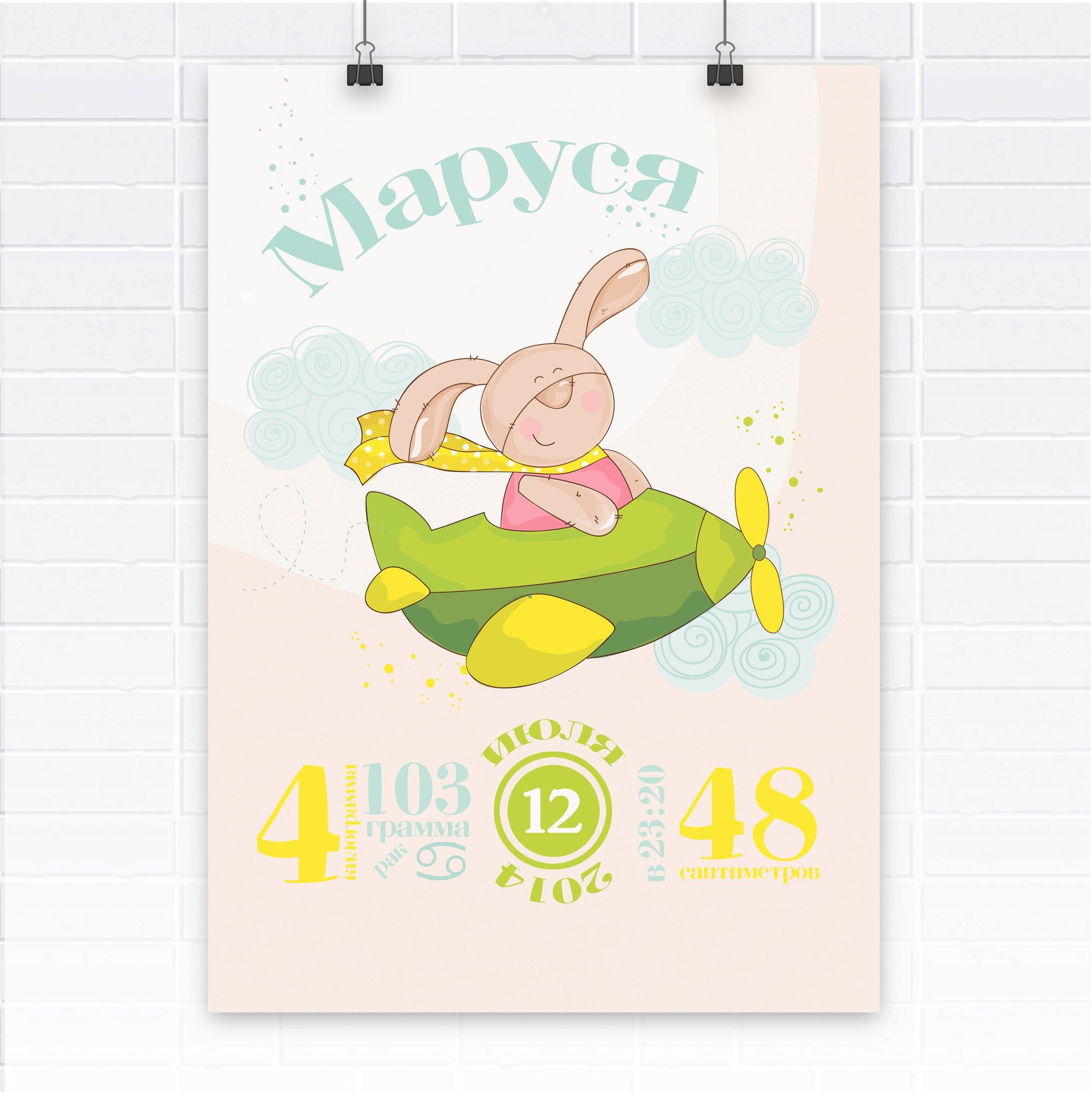 Детские постеры с рождения