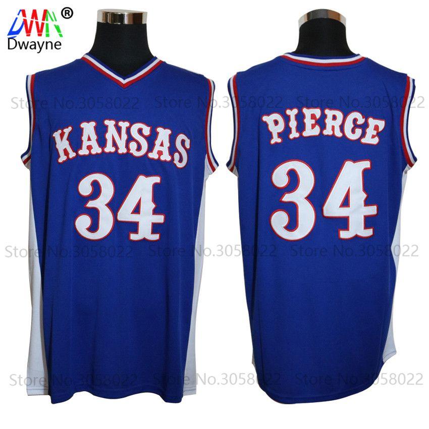 33f651c1d84 ... stitched college basketball jerseysxxs 6xl from since  us 16.75 2017  mens dwayne paul pierce jersey cheap throwback basketball jersey 34 kansas  jayhawks