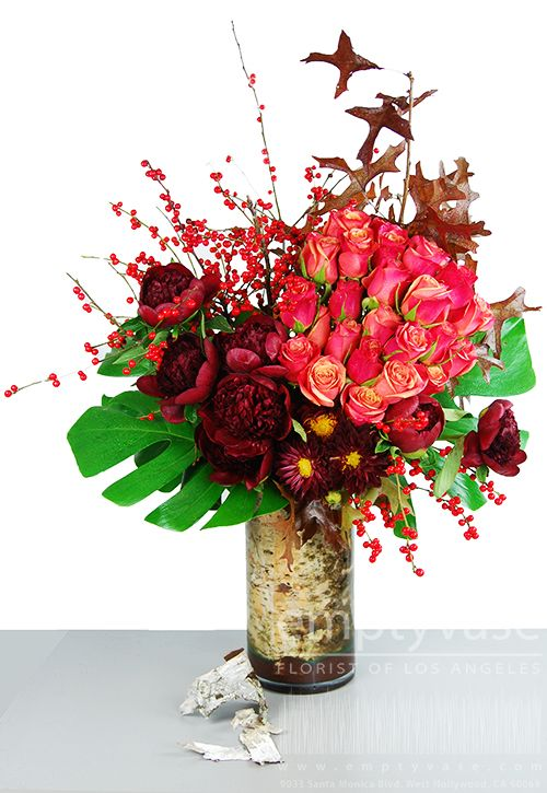 Empty Vase Florist Of Los Angeles Standing Tall Fall Mix