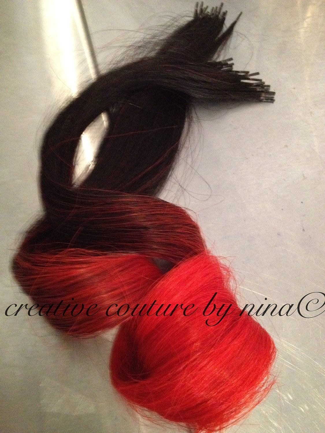 18 red hair black hair ombre 20 pieces dip dye i tip human black hair ombre hair black hair long hair cold fusion ship dip dye human hair extensions studio etsy pmusecretfo Images
