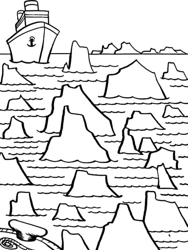 Iceberg, : Iceberg Maze for Big Ship Coloring Pages   Sarkvidék ...