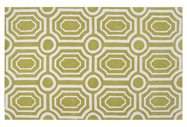 Love this for an entry.  Undertow Rug, Moss/White on OneKingsLane.com