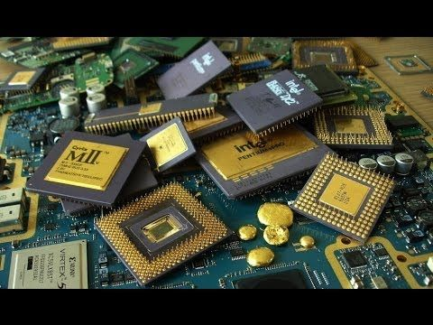 How To Separate The Gold From The Circuit Board Scrap