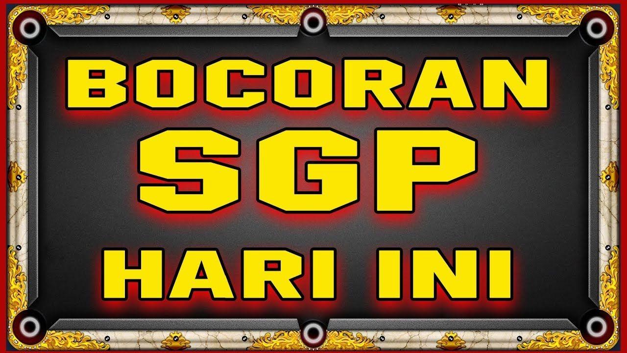 BOCORAN SGP RABU 6-11-2019