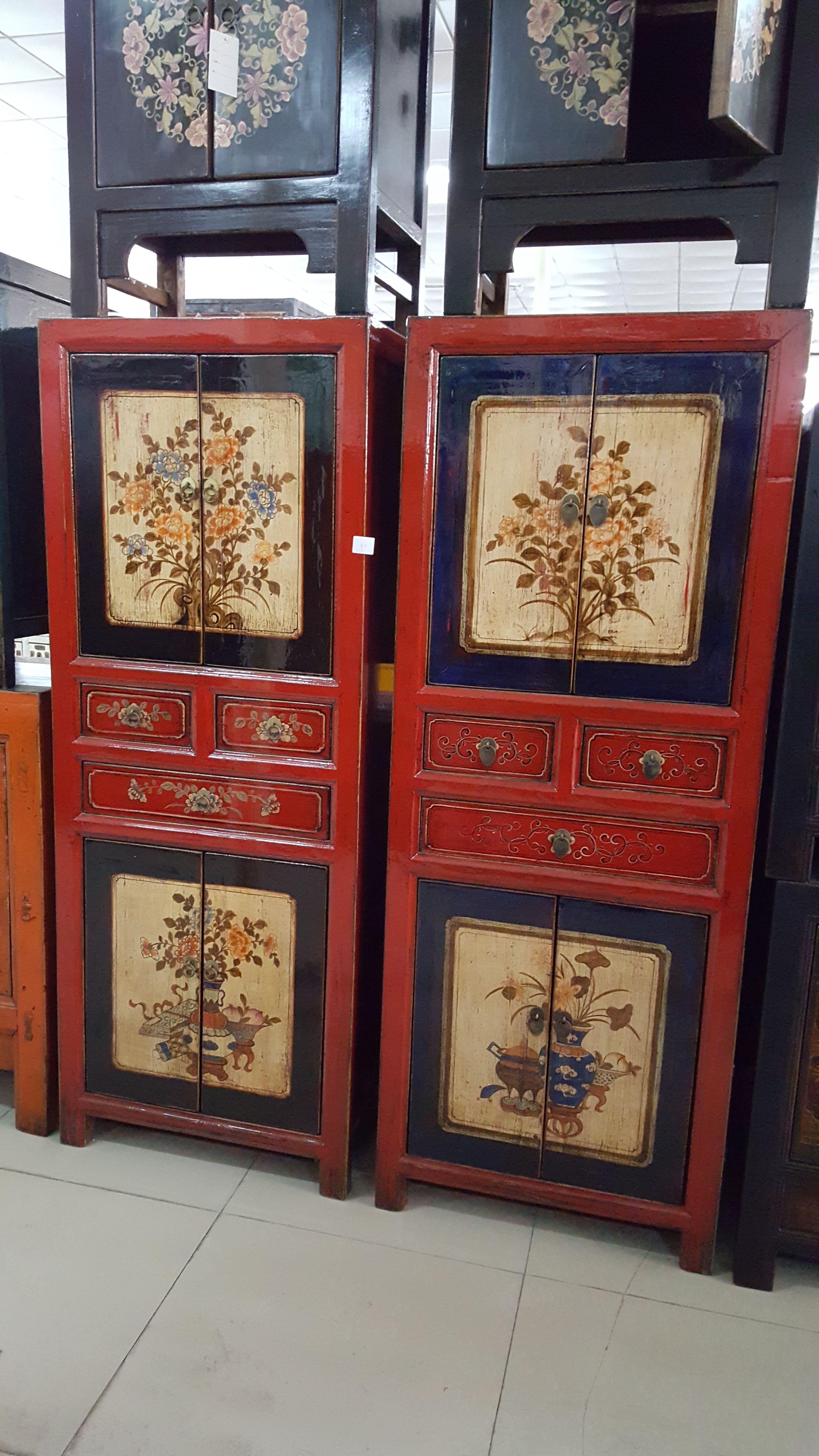 Mobili cinesi ~ Antica coppia di mobili cinesi provenienti dalla mongolia interna