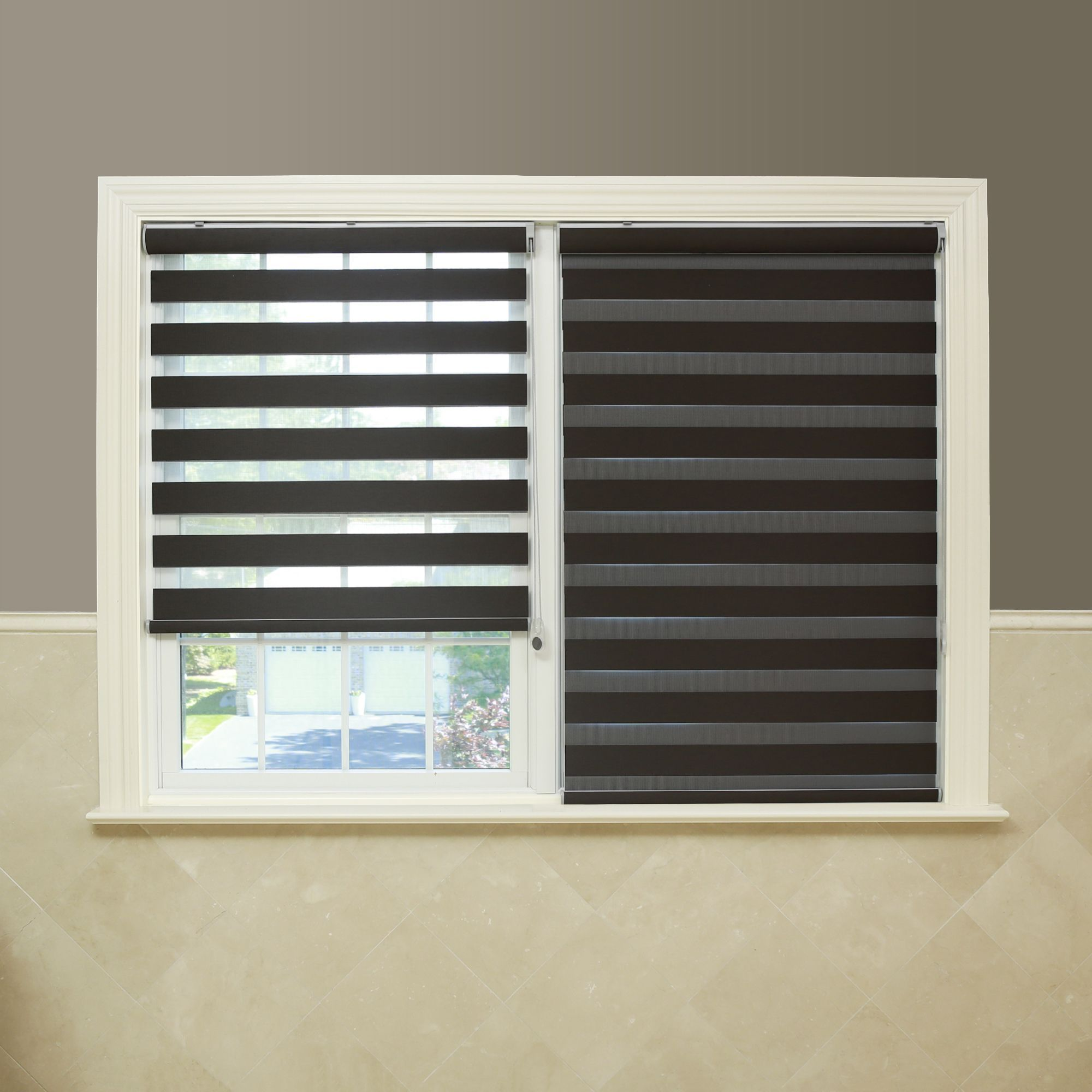 blinds black classic covering size blackout idea kmart roller within for window furniture sears x