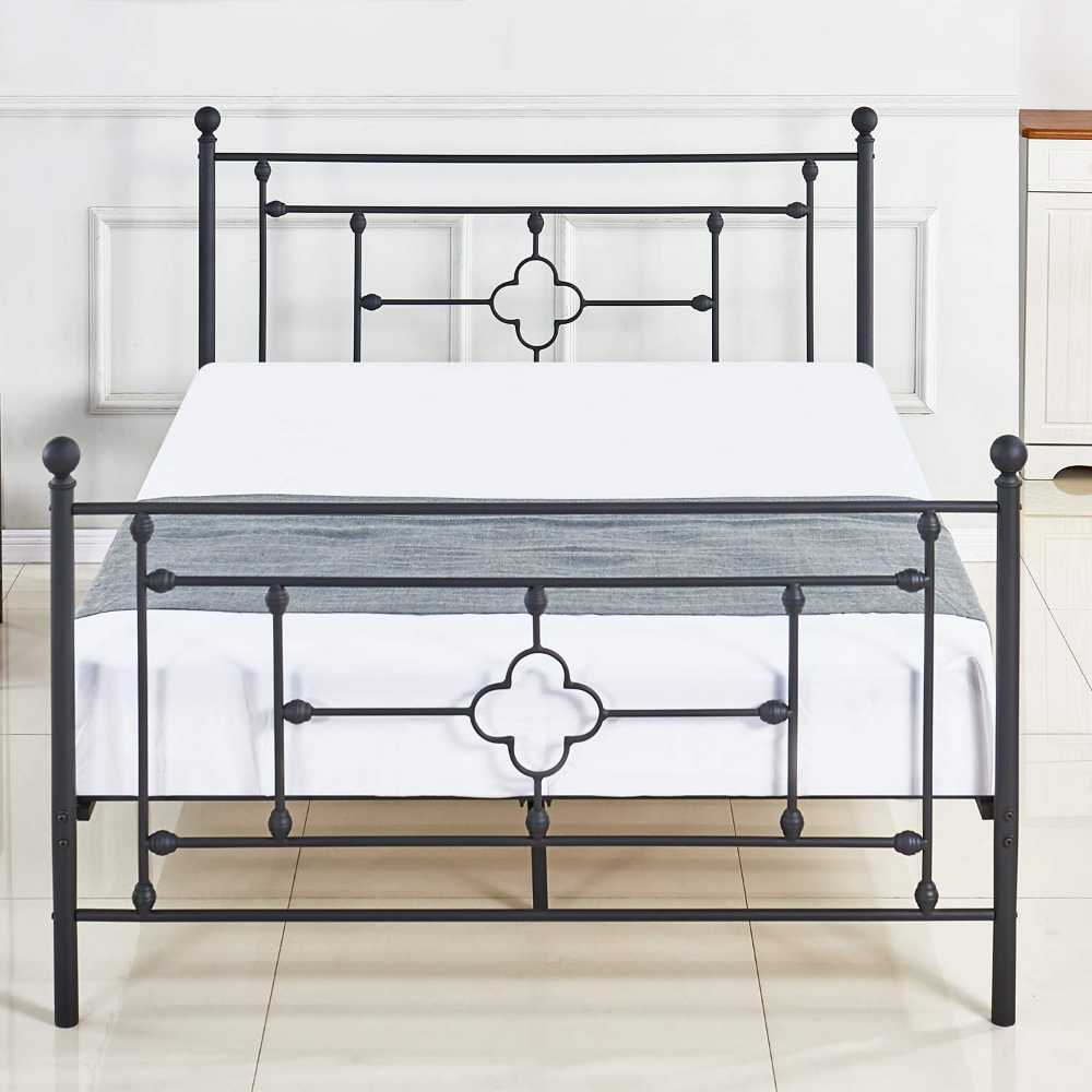 DIKAPA Metal Platform Bed Frame Queen Size