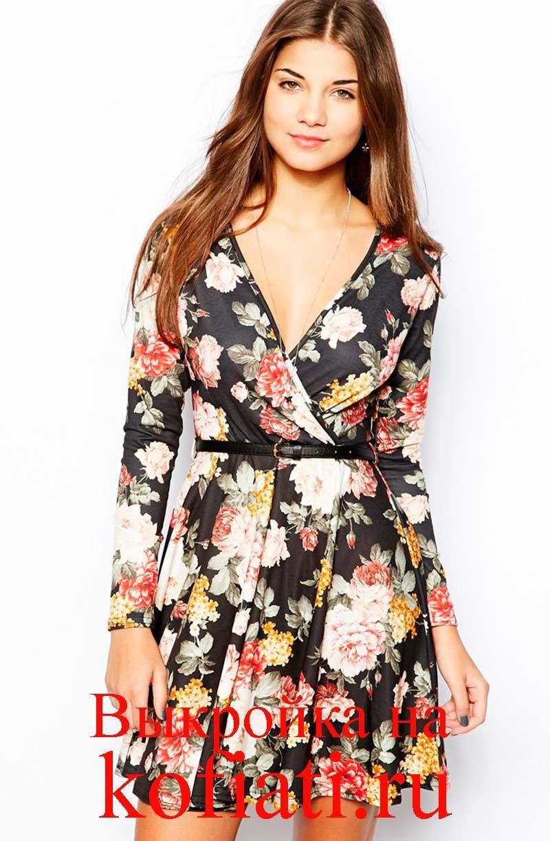 c2b3320b06c Выкройка летнего платья с рукавами. Это стильное яркое платье с цветочным  принтом просто создано для