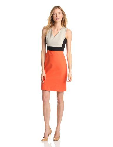 Kenneth Cole Women's Marcie Color Blocked Dress, Tiger Lily/Sandstone/Black, 10 Kenneth Cole,http://www.amazon.com/dp/B009YKCYZ6/ref=cm_sw_r_pi_dp_-UhNsb0KG529FZTH