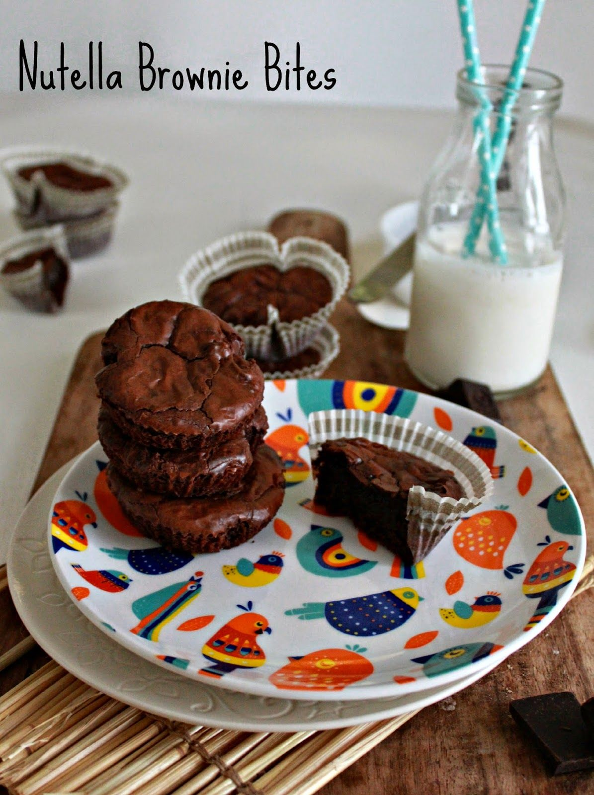 Cookaroo: Baking I Nutella Brownie Bites. With just four ingredients