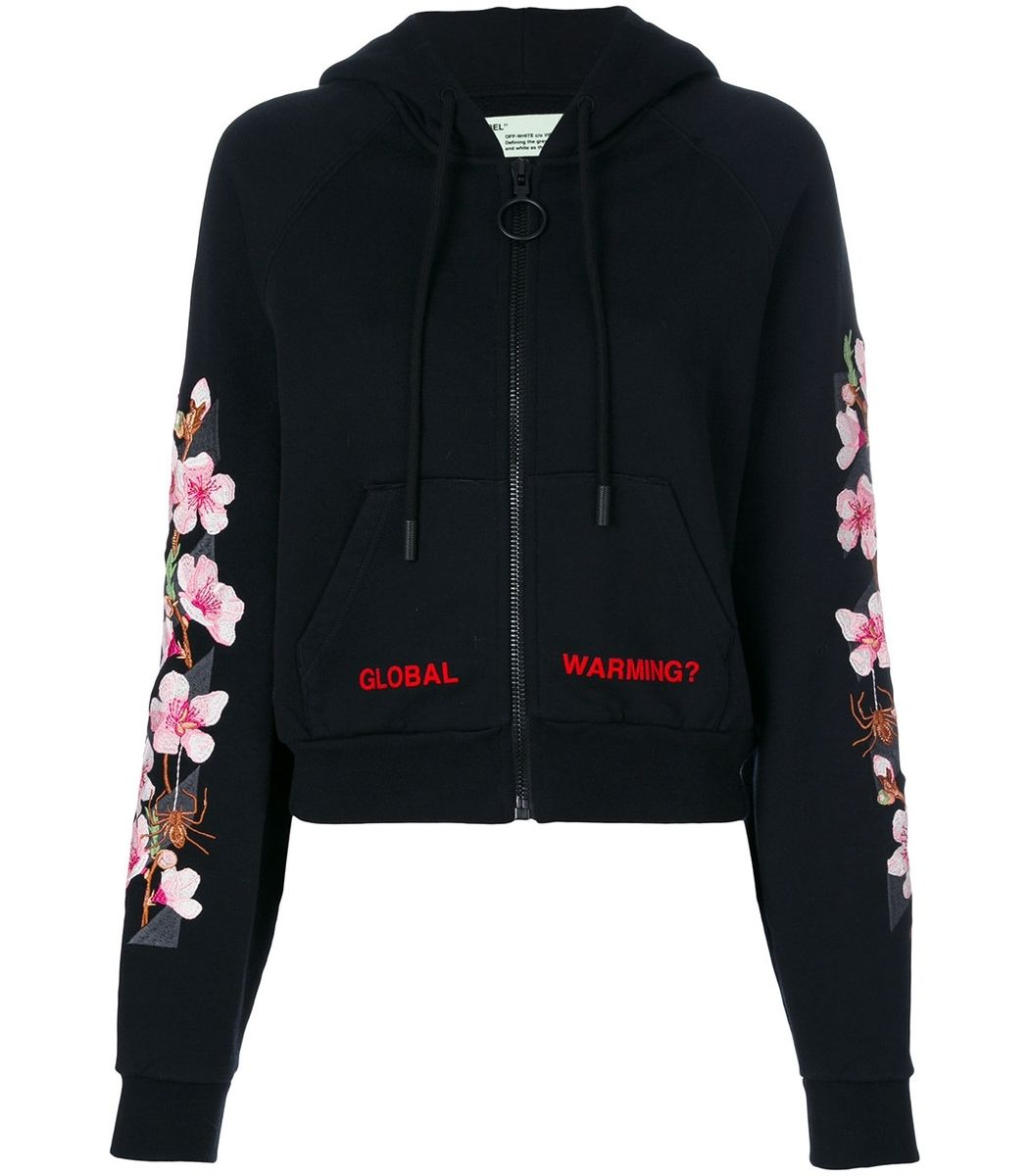 4785b348f94 OFF-WHITE Black Pink Global Warming Blossom Hoodie.  off-white  cloth