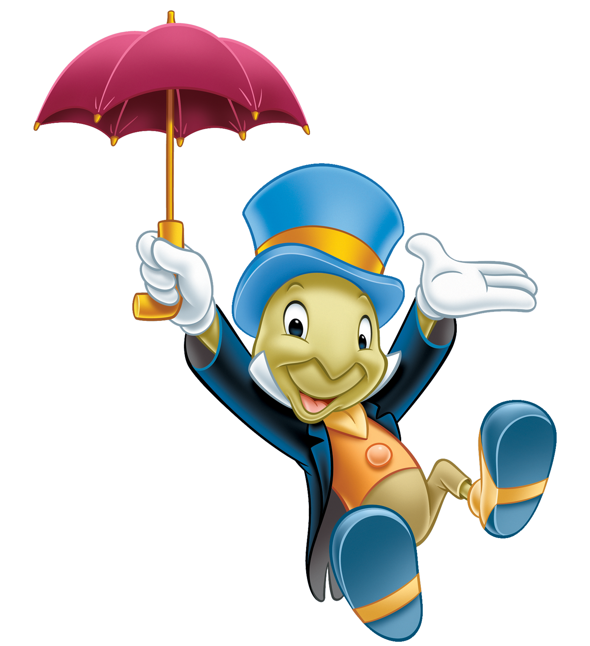 Jiminy Cricket Is A Small Anthropomorphic Cricket And The Deuteragonist Of The 1940 Disney Animated Feature Fil Disney Cartoons Disney Pictures Disney Clipart