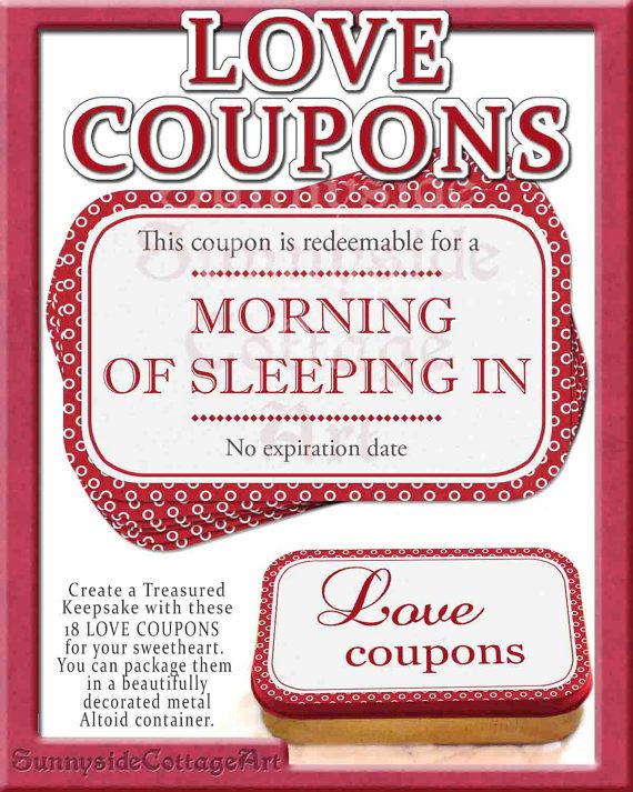 Romantic And Naughty Printable Love Coupons For Him Coupons - printable anniversary cards for him