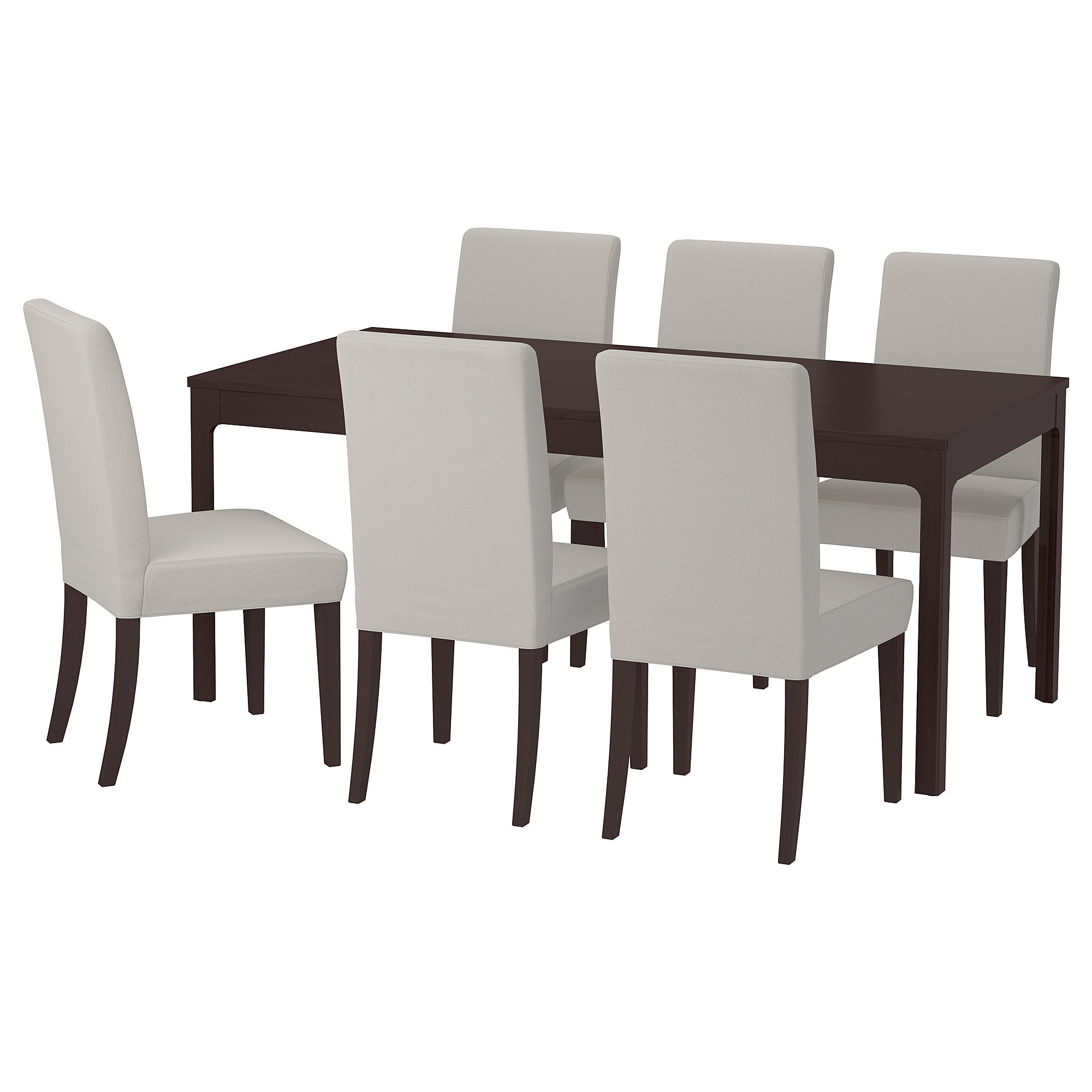 Ikea Ekedalen Henriksdal Table And 6 Chairs Dark Brown