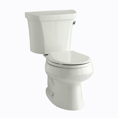 Kohler Wellworth Two-Piece Round-Front 1.28 GPF Toilet with Class Five Flush Technology, Right-Hand Trip Lever and Insuliner Tank Liner Finish: