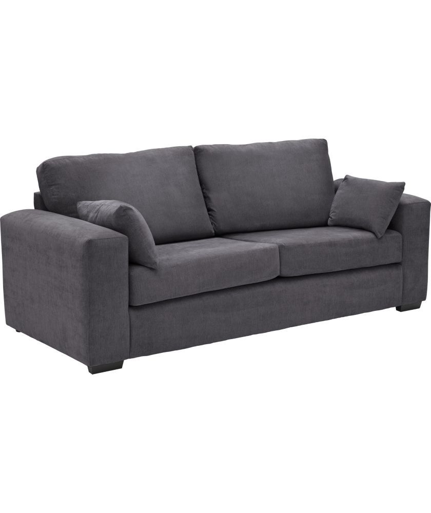 Buy Argos Home Eton 3 Seater Fabric Sofa Charcoal Sofas