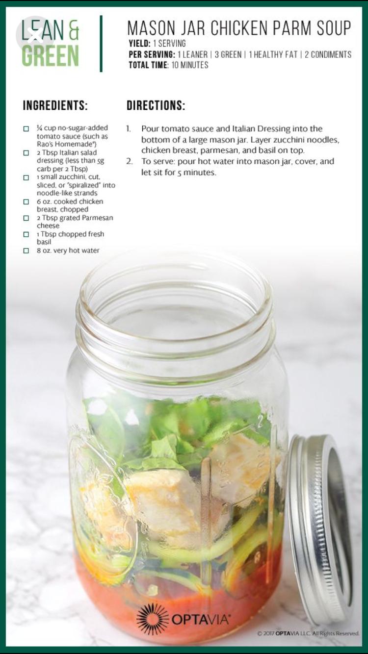 Mason Jar Chicken Parm Soup Lean Amp Green In 2019 Comida Recetas