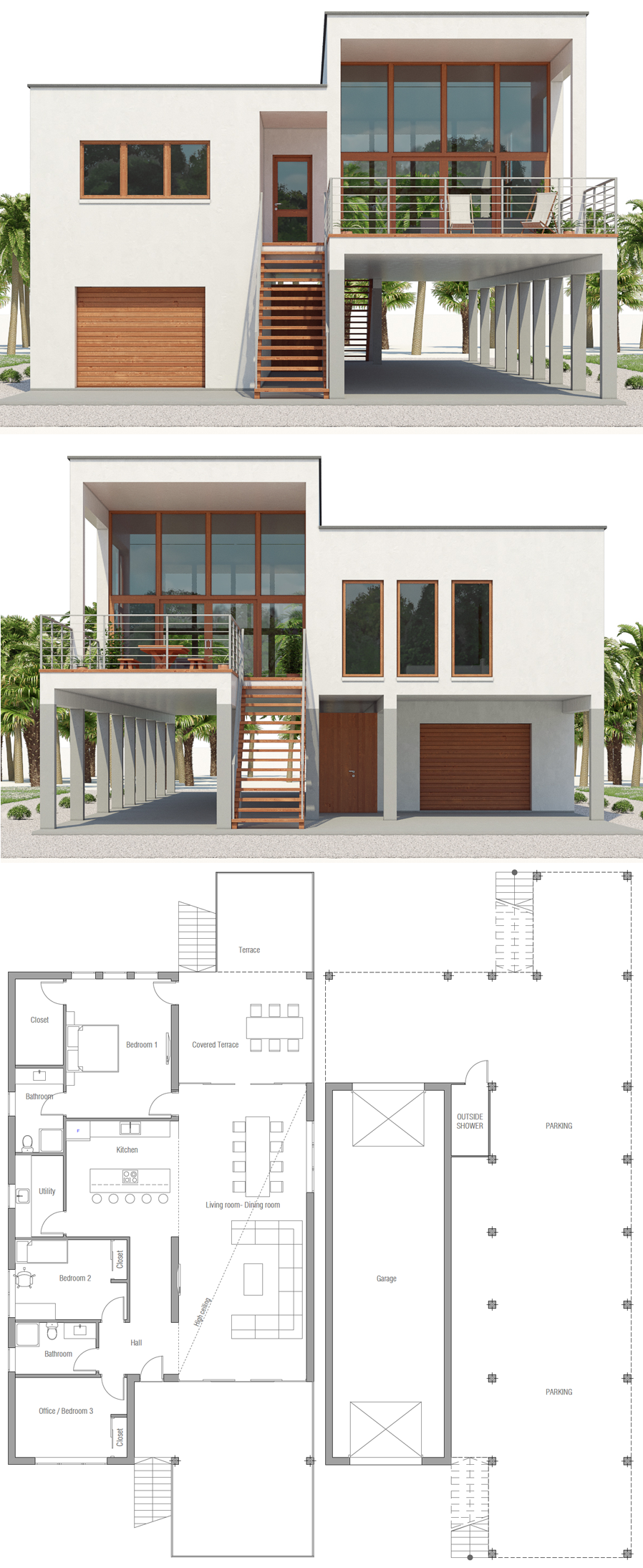 Modern Beach House Plans, Beach Home Plans beachhouse newhome floorplans architecture archdaily is part of Living room design styles -